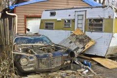 Daño IV de la tormenta del tornado fotografía de archivo