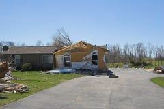 Daño KY 1p del tornado Imagenes de archivo