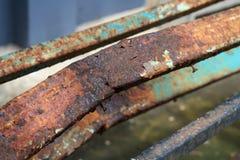 Daño oxidado en metal Foto de archivo