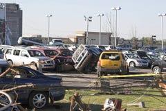 Daño TN 12 del tornado Imagen de archivo