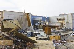 Daño V de la tormenta del tornado fotos de archivo