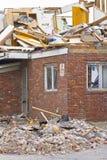 Daño VI de la tormenta del tornado foto de archivo