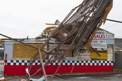 Daño VIII de la tormenta del tornado fotos de archivo libres de regalías