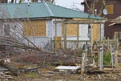 Daño XI de la tormenta del tornado imagen de archivo libre de regalías