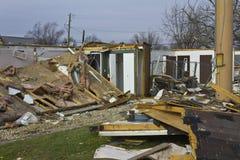 Daño XII de la tormenta del tornado fotos de archivo