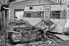 Daño XV de la tormenta del tornado imagen de archivo
