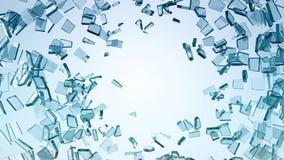 Daño y ruina: Pedazos de vidrio quebrado ilustración del vector