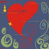 Daños del amor stock de ilustración