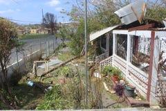 Daños del huracán foto de archivo
