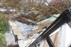 Daños del huracán foto de archivo libre de regalías