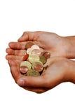 dać pieniądze Fotografia Stock