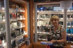 Día abierto en el alcohol de Stena del transbordador. Foto de archivo libre de regalías