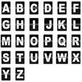 Da aleta letras para baixo Imagem de Stock Royalty Free