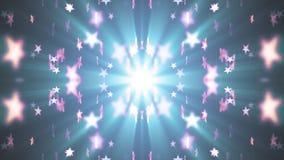 Da animação clara do fundo da animação das estrelas brilhantes simétricas movimento novo de desvanecimento móvel aleatório do uni vídeos de arquivo