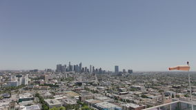 Da arquitetura da cidade aérea da skyline de Los Angeles opinião Sightseeing As torres do escritório aglomeraram a vista panorâmi vídeos de arquivo