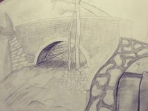 Da arte psychadellic trippy do esboço da ilustração do desenho pics fresco aleatório Fotografia de Stock