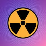 Da atenção radioativa nuclear do sinal do ícone do perigo do perigo vetor atômico de urânio eps 10 da ilustração ilustração do vetor