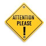 Da atenção sinal de aviso por favor, cartaz abstrato do negócio da qualidade super ilustração stock