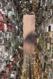 Da baía gorda da pedreira da estrada de Yick apartamento urbano do alojamento de Hong Kong Yick Cheong Fok Cheong Building King Foto de Stock
