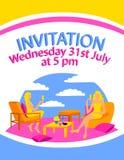 Da cadeira colorida lisa do projeto do galinha-partido do feminismo da mulher do local do cartão do cartaz artigo de assento bebe ilustração do vetor