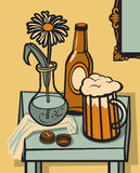 Da cerveja vida ainda Foto de Stock