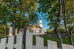 Da chiesa gotica ispirata da inglese di Alta in Alta, Norvegia Immagine Stock Libera da Diritti