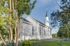 Da chiesa gotica ispirata da inglese di Alta in Alta, Norvegia Immagine Stock