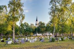 Da chiesa gotica ispirata da inglese di Alta in Alta, Norvegia Fotografia Stock