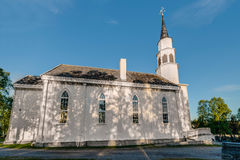 Da chiesa gotica ispirata da inglese di Alta in Alta, Norvegia Fotografia Stock Libera da Diritti