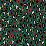 Da cor na moda da areia do ouro do rosa da cópia do leopardo do teste padrão ilustração exótica Ornamento ou gotas com silhueta V ilustração royalty free