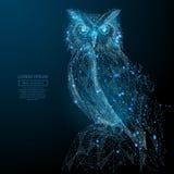 Da coruja azul poli baixo Foto de Stock Royalty Free