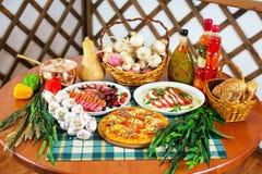 Da culinária vida italiana ainda Fotografia de Stock