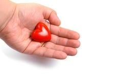 dać czerwone serce Obrazy Stock