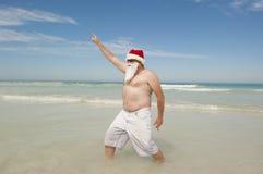 Día de fiesta tropical de la Navidad de Papá Noel Foto de archivo libre de regalías