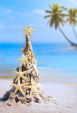 Día de fiesta tropical de la Navidad del arte Fotografía de archivo