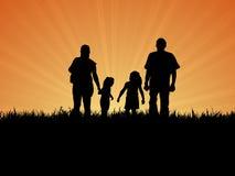 Día de la familia hacia fuera Foto de archivo libre de regalías