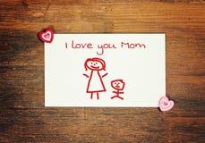 Día de madres feliz de la tarjeta de felicitación Fotografía de archivo