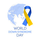 Día de Síndrome de Down del mundo Imagen de archivo libre de regalías