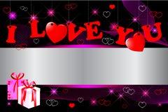 Día de tarjeta del día de San Valentín. Imágenes de archivo libres de regalías