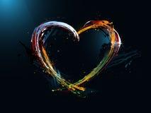 día de tarjeta del día de San Valentín del corazón, pintada Foto de archivo libre de regalías