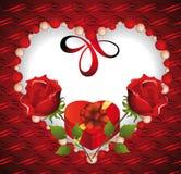 Día de tarjetas del día de San Valentín Imagen de archivo libre de regalías
