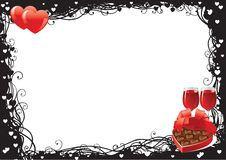 Día de tarjetas del día de San Valentín Fotografía de archivo libre de regalías