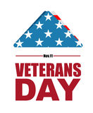 Día de veteranos Símbolo de la bandera de los E.E.U.U. del luto y de la pena para s caido Fotos de archivo libres de regalías