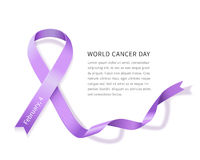 Día del cáncer del mundo Foto de archivo libre de regalías