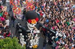 Día del desfile muerto en Ciudad de México Foto de archivo libre de regalías