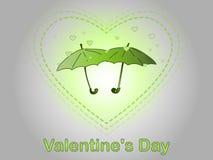 Día del `s de la tarjeta del día de San Valentín Una lluvia del corazón Foto de archivo libre de regalías