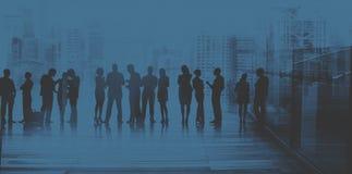 Da discussão da diversidade executivos dos trabalhos de equipa da sessão de reflexão concentrados Fotografia de Stock