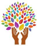 Da el logotipo del árbol ilustración del vector