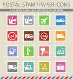 Da entrega ícones simplesmente Imagens de Stock Royalty Free