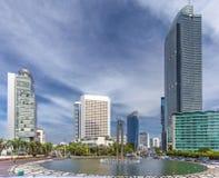 Da estátua baixa bem-vinda de Jakarta - a capital dentro de Indonésia Foto de Stock Royalty Free